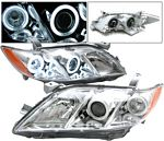 Toyota Camry 2007-2009 Clear Projector Headlights CCFL Halo