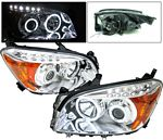 Toyota RAV4 2006-2008 Clear Projector Headlights CCFL Halo LED