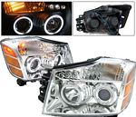 2004 Nissan Titan Clear Projector Headlights CCFL Halo LED