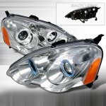 2003 Acura RSX Clear Projector Headlights with Halo