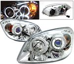Chevy Cobalt 2005-2010 Projector Headlights Chrome CCFL Halo LED