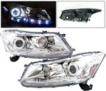 2008 Honda Accord Sedan Projector Headlights Chrome CCFL Halo LED DRL
