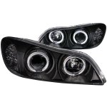 Infiniti I35 2002-2004 Black Projector Headlights with Halo