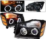 2006 Nissan Armada Black Projector Headlights CCFL Halo LED