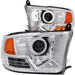 Dodge Ram 2009-2016 Projector Headlights Chrome CCFL Halo