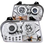 Chrysler 300 2005-2010 Clear Projector Headlights with CCFL Halo and LED