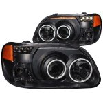 Mercury Mountaineer 1997 Black Projector Headlights CCFL Halo LED
