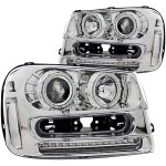 Chevy TrailBlazer 2002-2009 Clear Projector Headlights with CCFL Halo and LED
