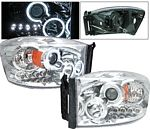 Dodge Ram 2006-2008 Clear Projector Headlights with CCFL Halo and LED