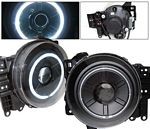 Toyota FJ Cruiser 2007-2012 Black Projector Headlights CCFL Halo