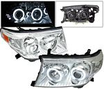 2009 Toyota Land Cruiser Clear Projector Headlights CCFL Halo LED