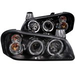 Nissan Maxima 2000-2001 Black Projector Headlights Halo