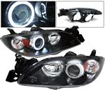 Mazda 3 Sedan 2004-2008 Black Projector Headlights CCFL Halo