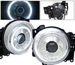 Toyota FJ Cruiser 2007-2012 Clear Projector Headlights CCFL Halo
