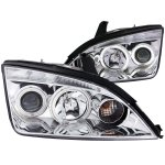 Ford Focus ZX4 Sedan 2005-2007 Clear Projector Headlights CCFL Halo LED