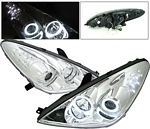 Lexus ES330 2004-2006 Chrome Projector Headlights CCFL Halo LED