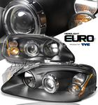 2000 Honda Civic TYC Black Projector Headlights