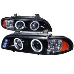 2001 BMW E39 5 Series Smoked Halo Projector Headlights with LED