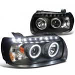 2007 Ford Escape Black Projector Headlights Halo LED DRL