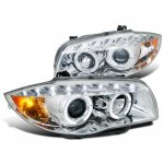 2008 BMW E87 1 Series Clear Halo Projector Headlights with LED