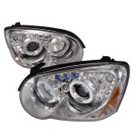 Subaru Impreza 2004-2005 Clear Halo Projector Headlights with LED