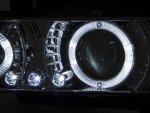 Infiniti G35 Coupe 2003-2007 Black Halo Projector Headlights with LED