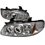 Nissan Sentra 2000-2003 Clear Halo Projector Headlights with LED