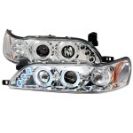 1993 Toyota Corolla Clear Halo Projector Headlights with LED