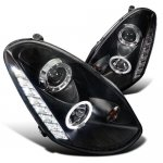 Infiniti G35 Sedan 2005-2006 Black Projector Headlights Halo LED DRL