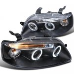 Chevy Aveo 2004-2008 Black Halo Projector Headlights with LED
