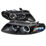 Chrysler Sebring Coupe 1997-2000 Black Dual Halo Projector Headlights with LED