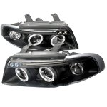 Audi A4 1996-1999 Black Halo Projector Headlights with LED