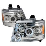 2009 Chevy Avalanche Clear Halo Projector Headlights LED Eyebrow