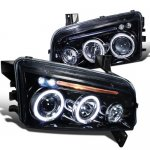 2007 Dodge Charger Smoked Projector Headlights with LED
