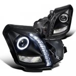 Cadillac CTS 2003-2007 Black Projector Headlights Halo LED DRL