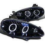 2005 Mazda Miata Smoked Halo Projector Headlights with LED