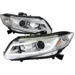 Honda Civic 2012-2013 Chrome Projector Headlights LED DRL Bar