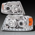 2004 Ford F150 Clear Halo Projector Headlights with LED Daytime Running Lights