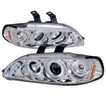1993 Honda Civic Clear Dual Halo Projector Headlights with LED