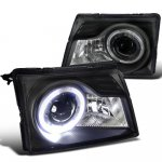 Ford Ranger 1998-2000 Black Halo Projector Headlights