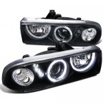 2002 Chevy S10 Pickup Black Projector Headlights Halo LED