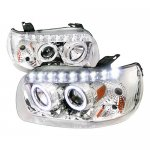 2007 Ford Escape Chrome Projector Headlights Halo LED DRL