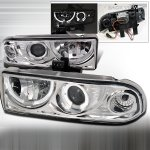 2003 Chevy S10 Clear Dual Halo Projector Headlights