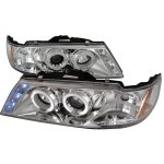 Nissan Sentra 1995-1999 Clear Halo Projector Headlights with LED