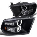 2012 Dodge Ram Black Dual Halo Projector Headlights with LED