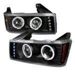 2011 Chevy Colorado Black Halo Projector Headlights with LED