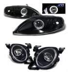 1997 Lexus SC400 Black High Beam and Projector Headlights Set