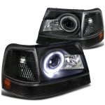 Ford Ranger 1998-2000 Black Halo Projector Headlights and Bumper Lights Set