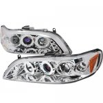 Honda Accord 1998-2002 Clear Halo Projector Headlights with LED
