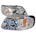 2002 Ford F150 Clear CCFL Halo Projector Headlights with LED Eyebrow